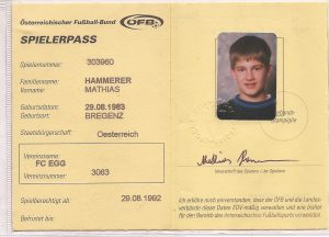 FC Egg - Spielerpass